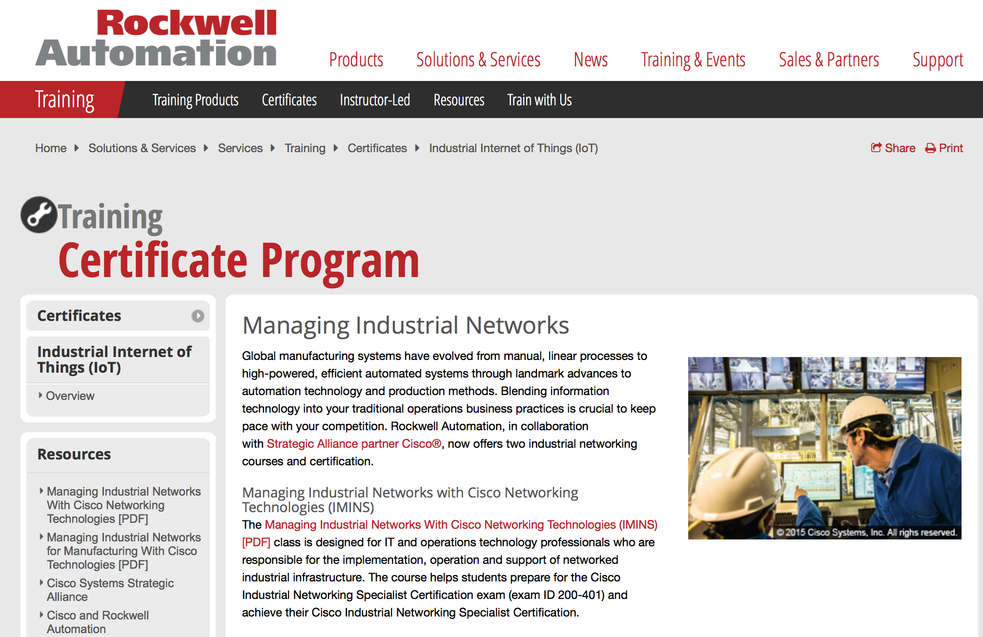 Managing Industrial Networks With Cisco Networking Technologies